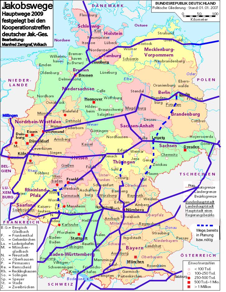 Pilgerwege Norddeutschland