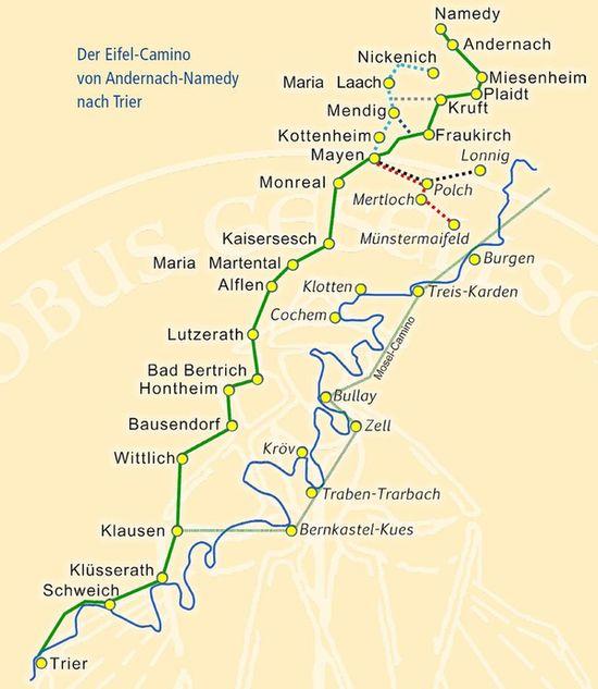 Eifel Camino MAp