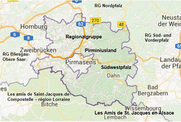 Karte Südwestpfalz
