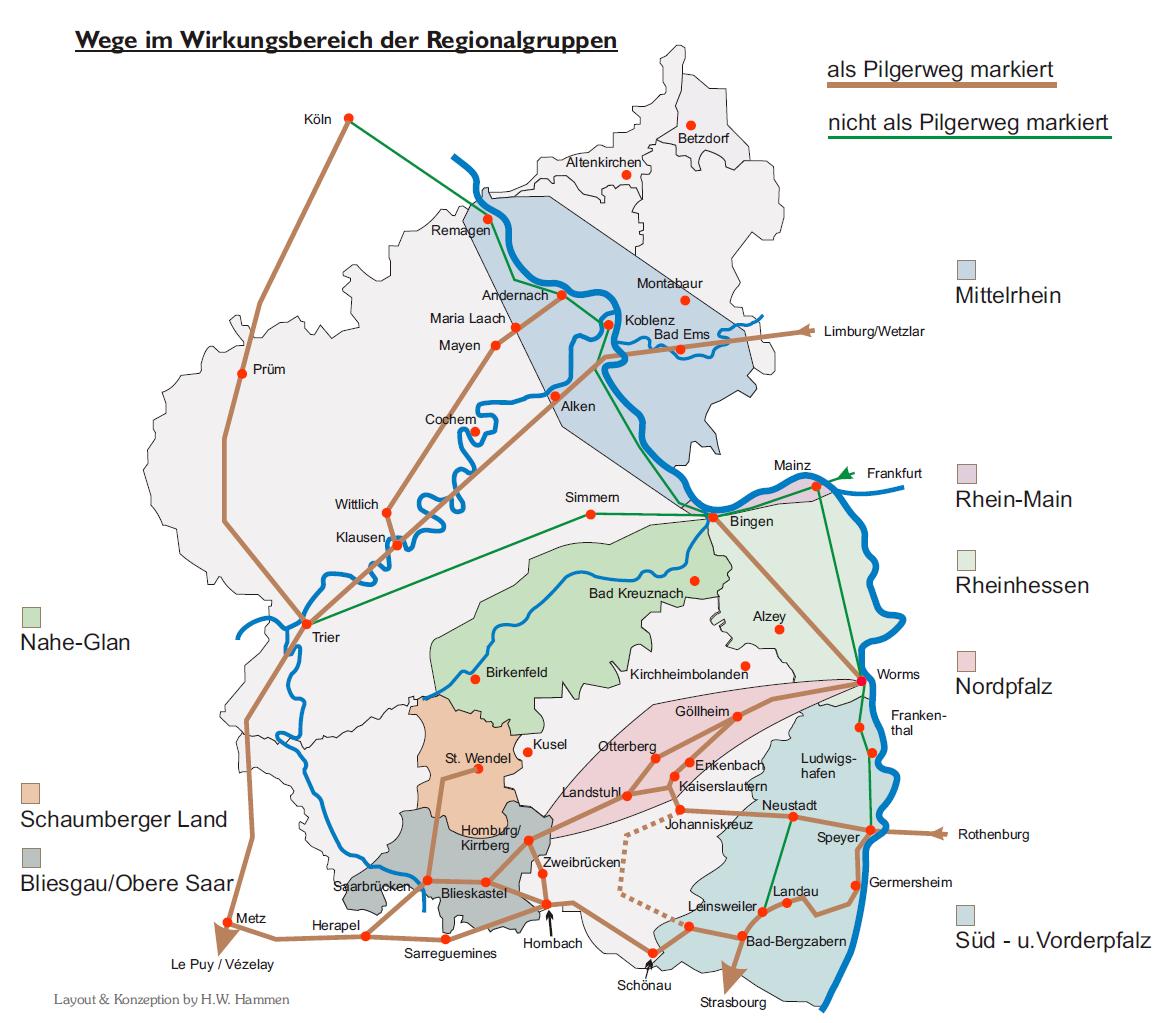 Jakobsweg Frankreich Spanien Karte.Wege St Jakobus Gesellschaft Rheinland Pfalz Saarland E V